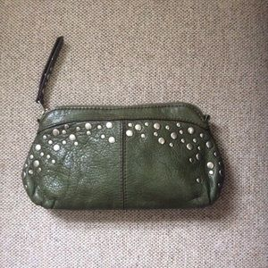 NWOT Leather clutch Fossil, Rare super cool 😎